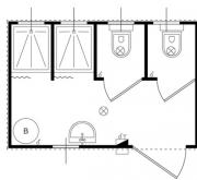 Servizi igienici 2 cabine con wc e doccia